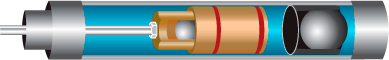 illustration of a piston pump